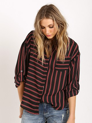 Line & Dot Annabell Button Down Black/Cherry