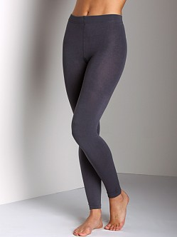 Plush Footless Fleece-Lined Tights Grey