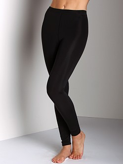 Plush Extra Warm Stitched Leggings Black