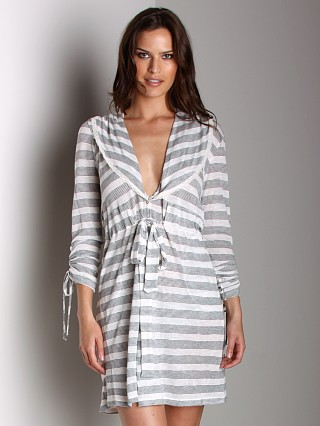 Wendy Glez Leisure Robe Oatmeal and Black