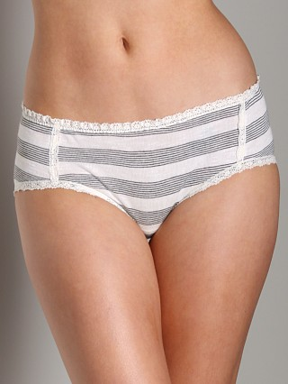 Wendy Glez Leisure Ruffled Back Panties Oatmeal and Black