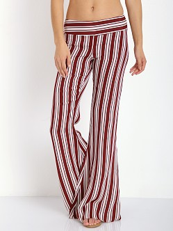 Flynn Skye Patty Flare Burgundy Stripe