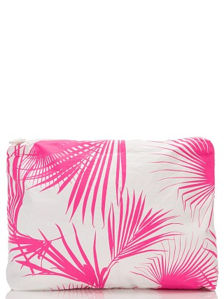 Aloha Mid Zipper Bag Day Palms Neon Pink