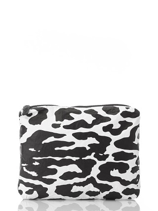Aloha Small Zipper Bag Quintana Roo Black + White