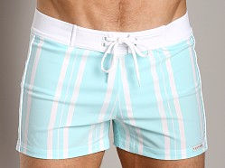 Sauvage Designer Stripes Lycra Swimmer Mint