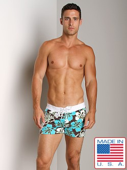 Sauvage Retro Hawaii Lycra Swimmer Chocolate