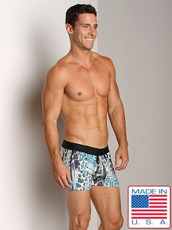 Sauvage Vintage Print Lycra Swimmer Jungle