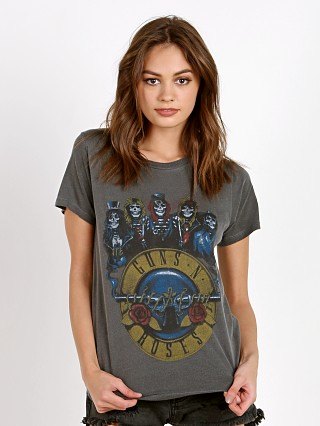 Daydreamer Guns N' Roses Skeletons Tee Faded Black