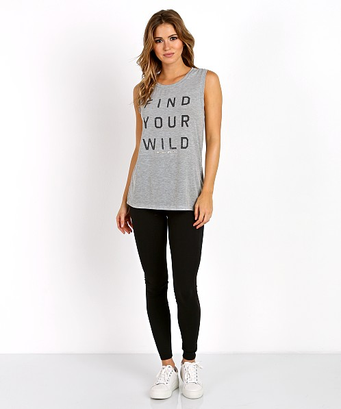 Spiritual Gangster Find your Wild Chakra Tank Heather Grey