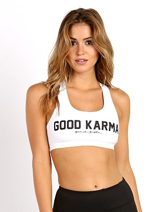 Spiritual Gangster Good Karma Sports Bra White