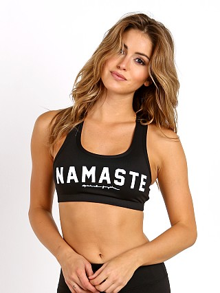Spiritual Gangster Namaste Sports Bra Black