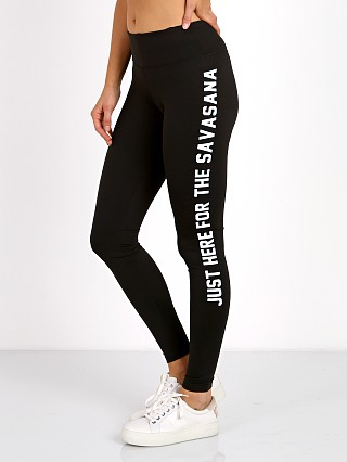 Spiritual Gangster Here For the Savasana Legging Black