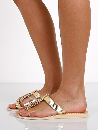 Cocobelle Fringe Sandals Gold