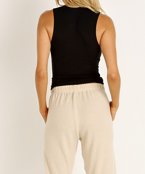 Joah Brown Mock Neck Tank Black