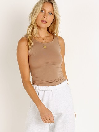 Model in sienna Joah Brown Bare Tank