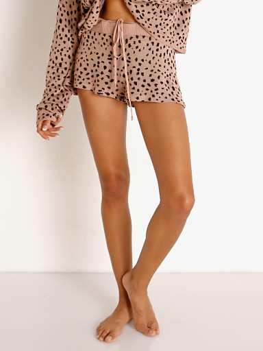 Model in taupe spot Beach Riot Balboa Short