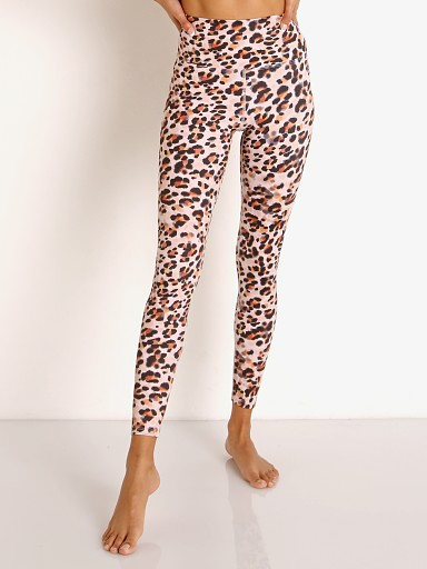 Model in watercolor leopard Beach Riot Piper Legging