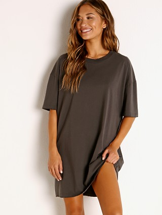 LNA Clothing Oversized T-Shirt Dress Pirate Black
