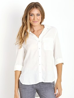 Bella Dahl Shirttail Button Down Overcast