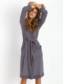 Eberjey Cozy Time Robe Gunmetal