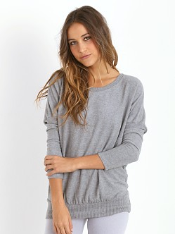 Eberjey Cozy Time Slouchy Tee Heather Grey