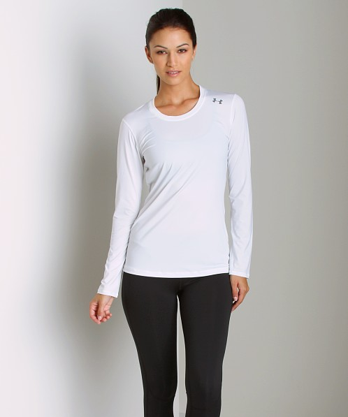 Under Armour HeatGear Sonic Long Sleeve White