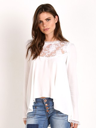 For Love & Lemons Ellery Blouse White