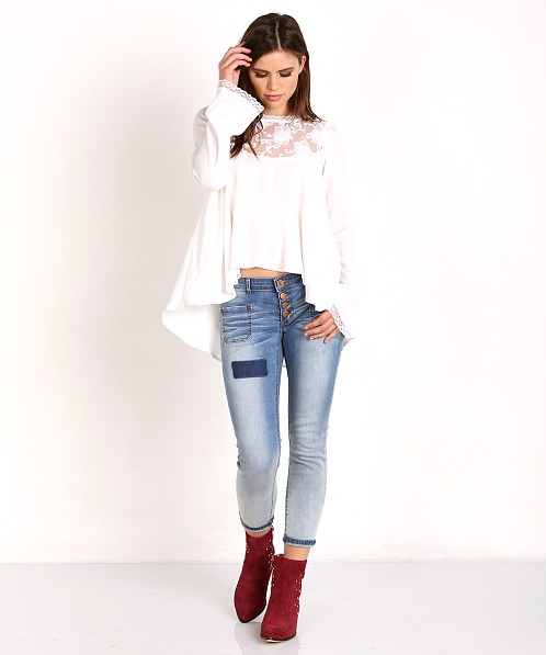 a7bd2e8571 For Love   Lemons Ellery Blouse White CT1284R-FA16 - Free Shipping at Largo  Drive