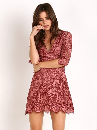 For Love & Lemons Theodora Mini Dress Rose
