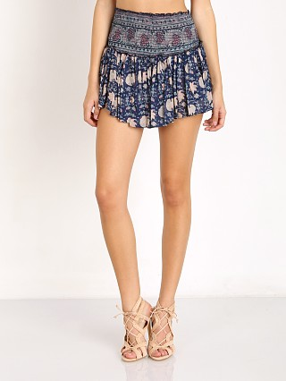 Love Shack Fancy Topanga Beach Mini Skirt Blueberry