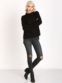 LNA Clothing Oversized Turtleneck Sweater Black