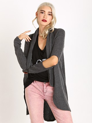 LNA Clothing Open Elbow Cardigan Charcoal
