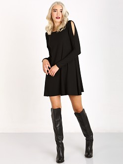 LNA Clothing Lucia Dress Black Rib