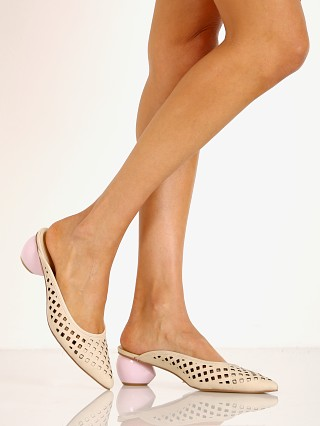 Model in amberlight Jaggar Caged Heel