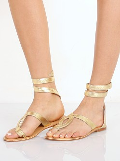 Cocobelle L Space Snake Wrap Sandals Gold