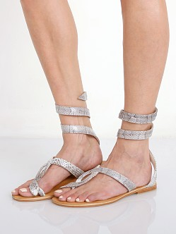 Cocobelle L Space Snake Wrap Sandals Natural