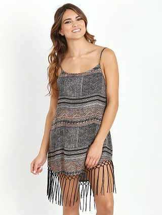Cleobella Sadira Fringe Dress Woodblock