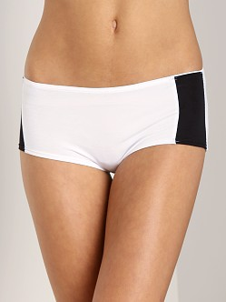 Fleur't Second Drawer Side Panel Boyshort White/Black