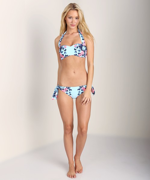 1697104d1f3ed Seafolly Bella Rose Bandeau Bustier Vintage Blue 30324-844 - Free Shipping  at Largo Drive