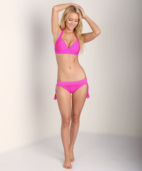 Seafolly Goddess Foxed Halter Neon Pink