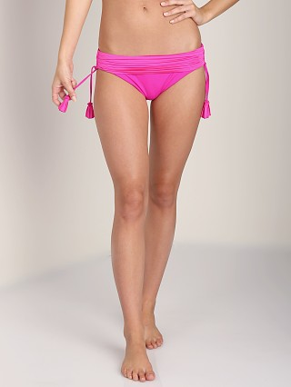 Model in neon pink Seafolly Goddess Banded Hipster