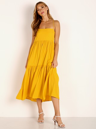 Capulet Jayla Tiered Midi Dress Turmeric