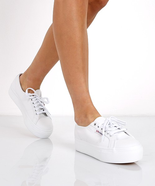 Superga Auleaw Leather Platform Sneaker White S00bgv0