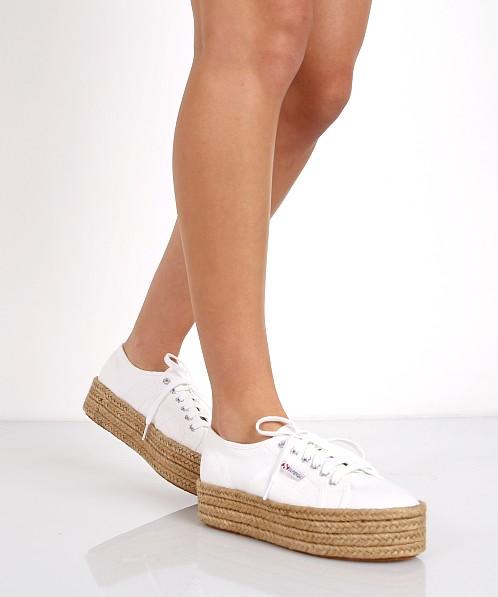Superga Cotropew Espadrille Platform Sneaker White S0099z0