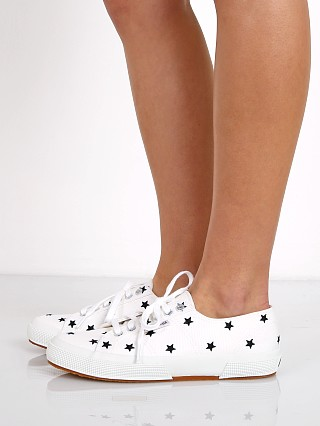 Superga Embcotw Sneaker White/Black Star