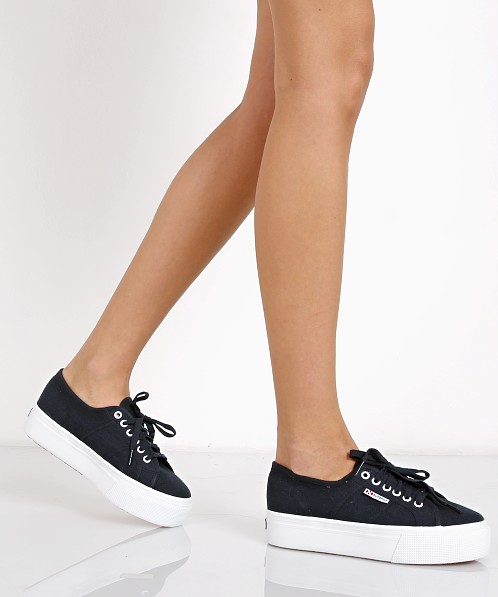 Superga Basic Platform Navy S0001l0 Free Shipping At