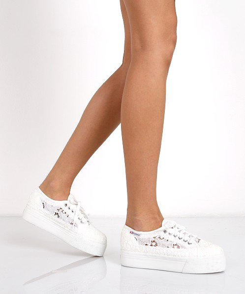 platform low top sneakers - White Superga sBuUa2