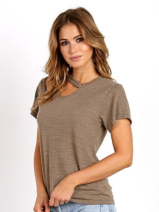 LNA Clothing Double Cut Tee Bark