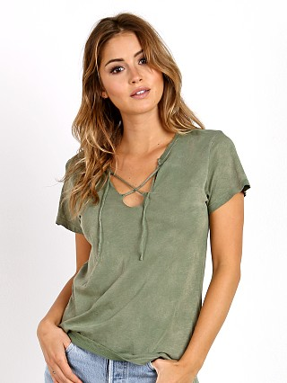 LNA Clothing Raw Tie Tee Military Green Potassium