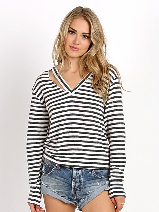 LNA Clothing Fallon Sweater Natural Stripe